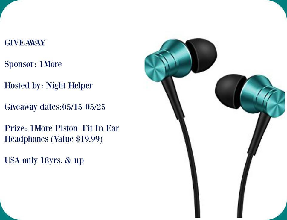 1More Piston Headphones Giveaway. #1More