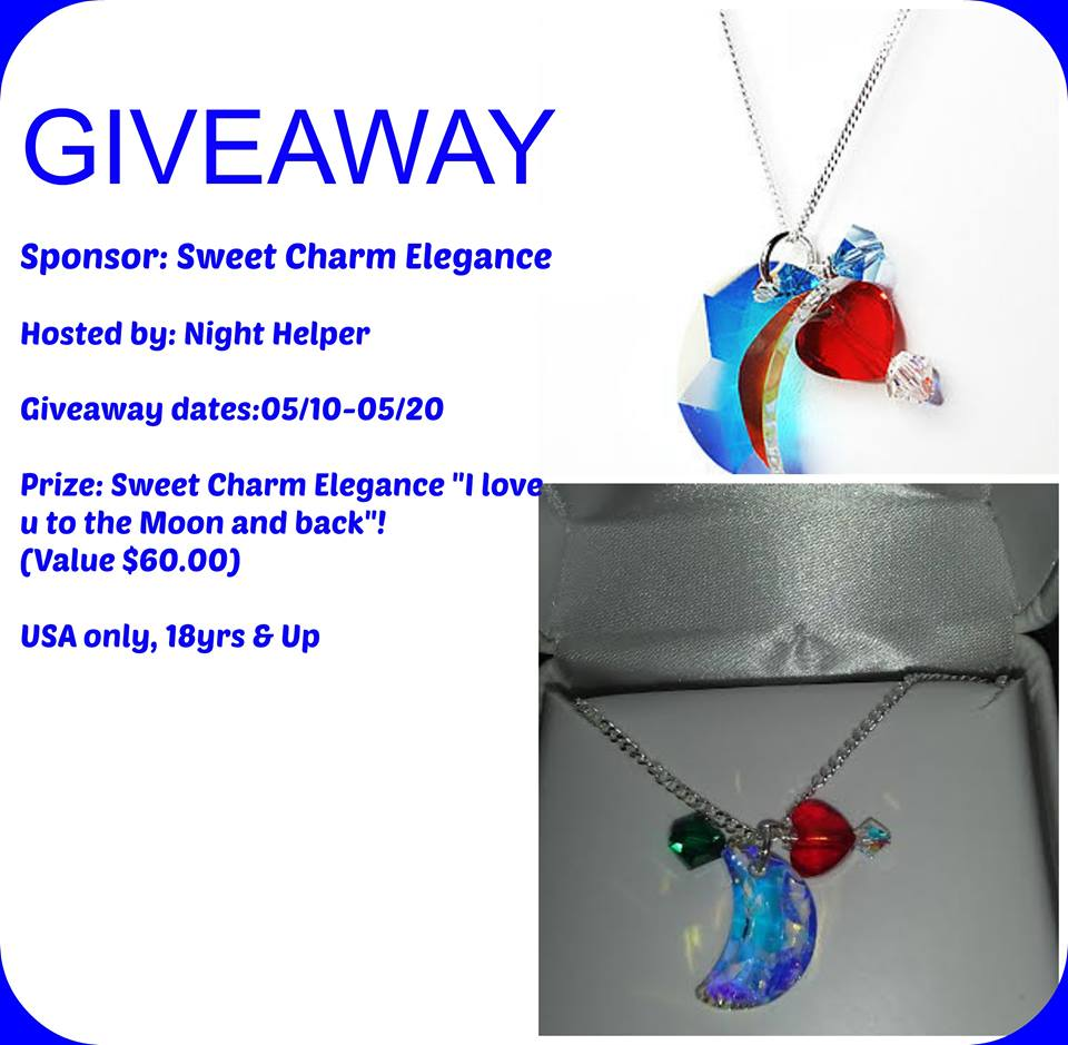 "Sweet Charm Elegance ""I love u to the Moon and back ""Mothers Day Giveaway."