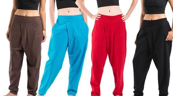 How to wear your harem pants stylishly.