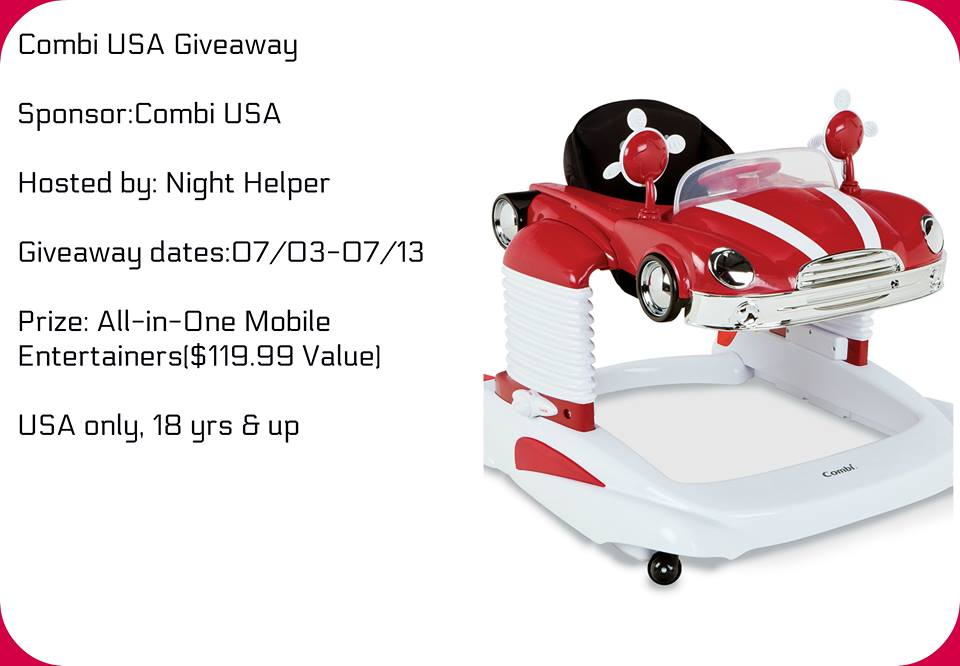 It's A Combi USA All-in-One Mobile Entertainer Giveaway, ending 7/13.