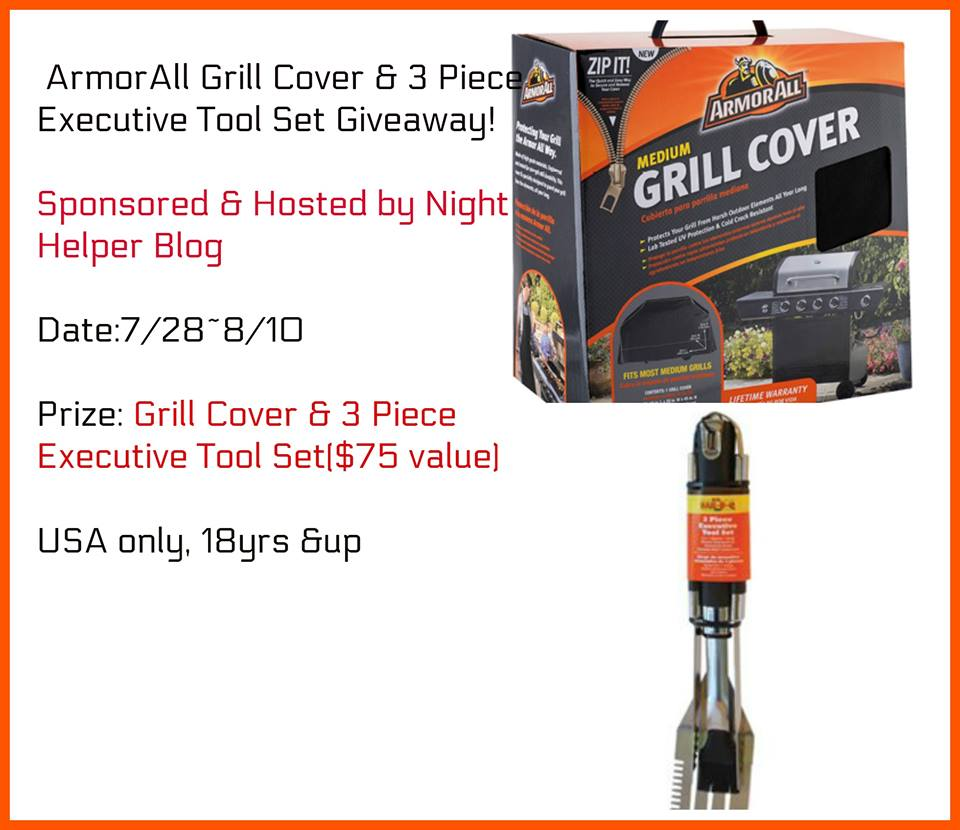 Large ArmorAll Grill Cover & 3Piece Executive Tool Set Giveaway.