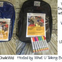 Giveaway: ChalkWind Erasable Backpack with Markers.