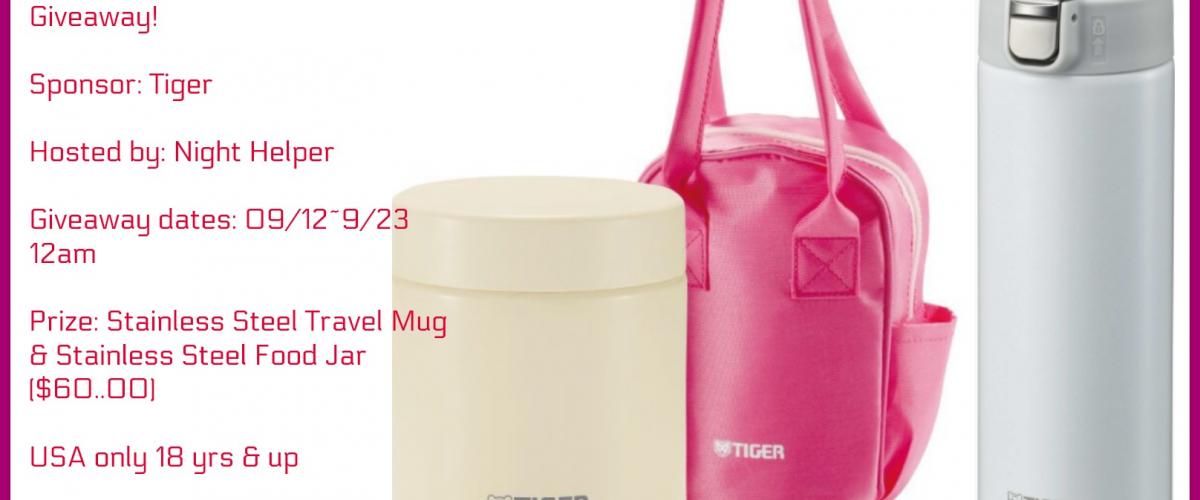 Tiger Travel Stainless Steel Mug & Stainless Steel Food Jar Giveaway