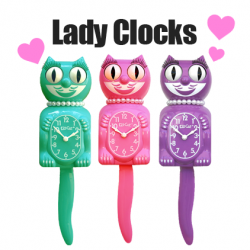 Celebrate Christmas Time With Honeysuckle Pink Lady Collector's Edition Kit-Cat Klock  @KitCatClock
