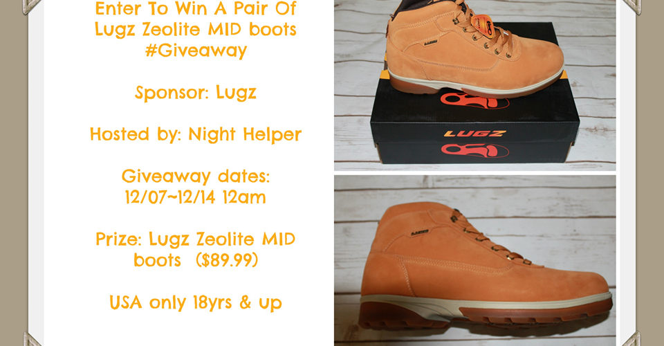 Win A Pair of Lugz Zeolite MID boots #Lugz, #Holidays, #Giveaway
