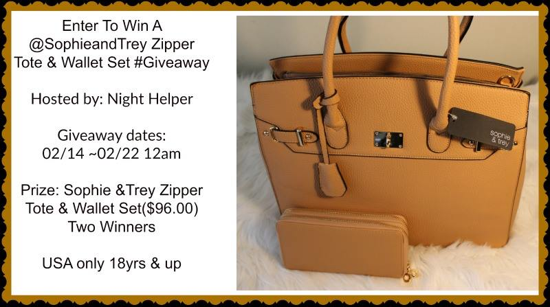Enter To Win A @SophieandTrey Zipper Tote & Wallet Set #Giveaway