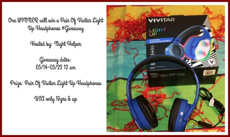 Win A Pair of Vivitar Light Up Headphones